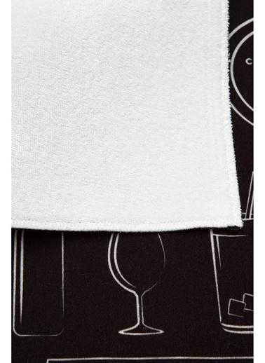 Hamur Baskılı Bulaşık Kurutma Matı 46X36 cm MF-060 Siyah